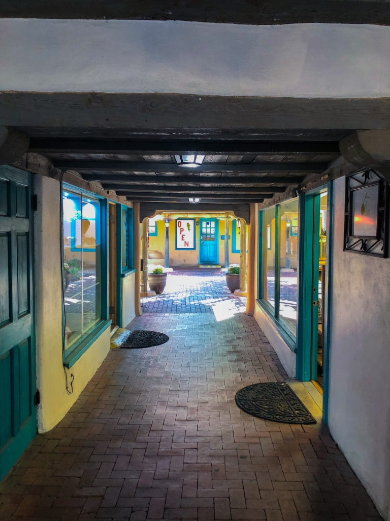 passage of shops in Old Town Albuquerque, NM