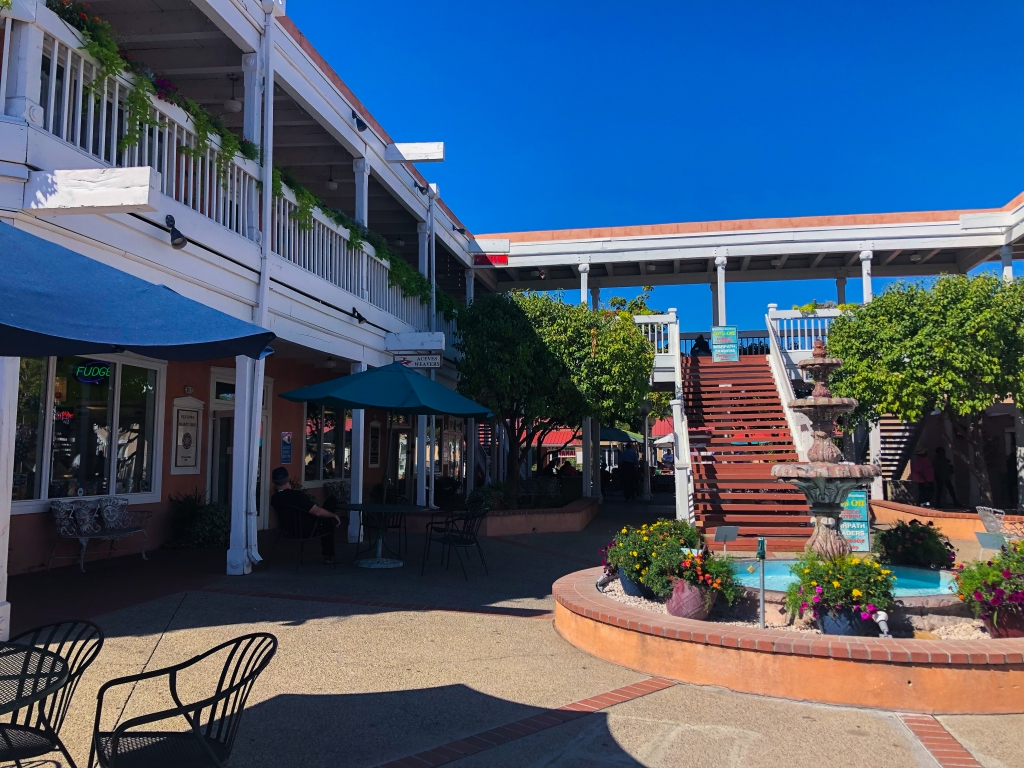 square shopping area in Old town Albuquerque