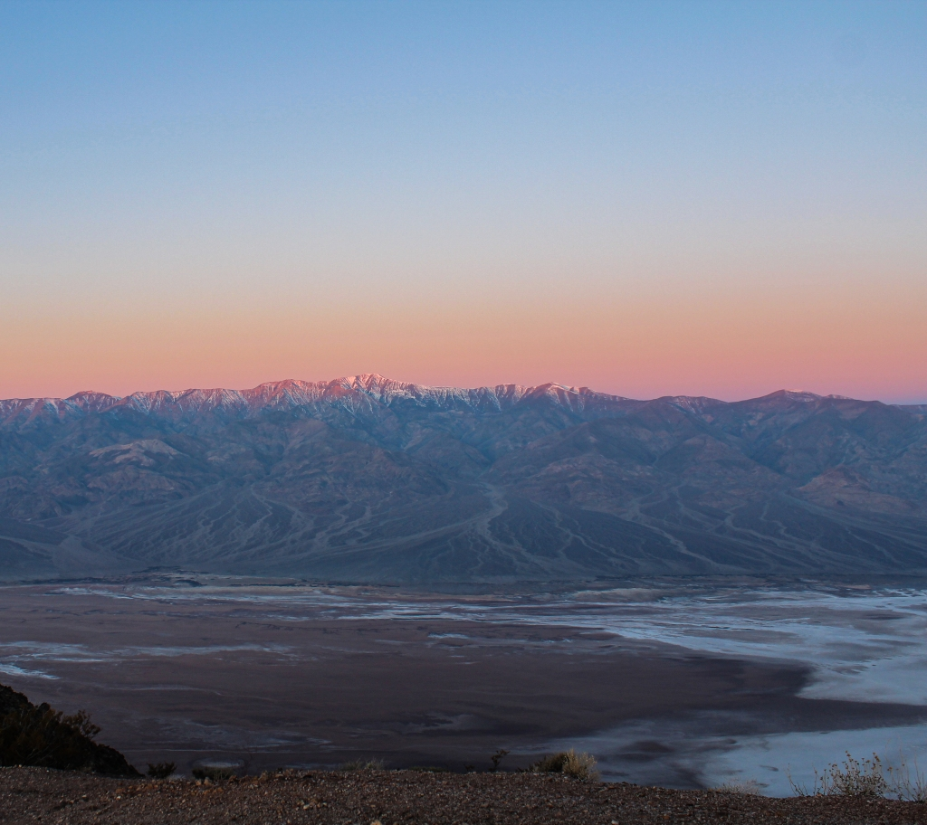 Telescope Peak at sunrise