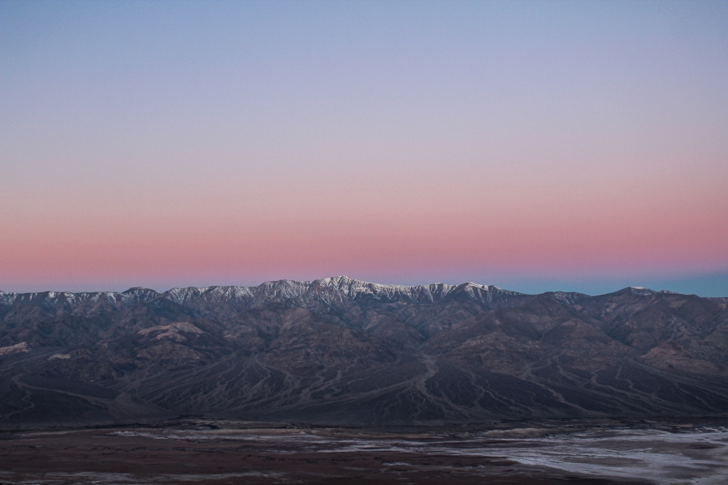 Telescope Peak during sunrise, view from Dante's View