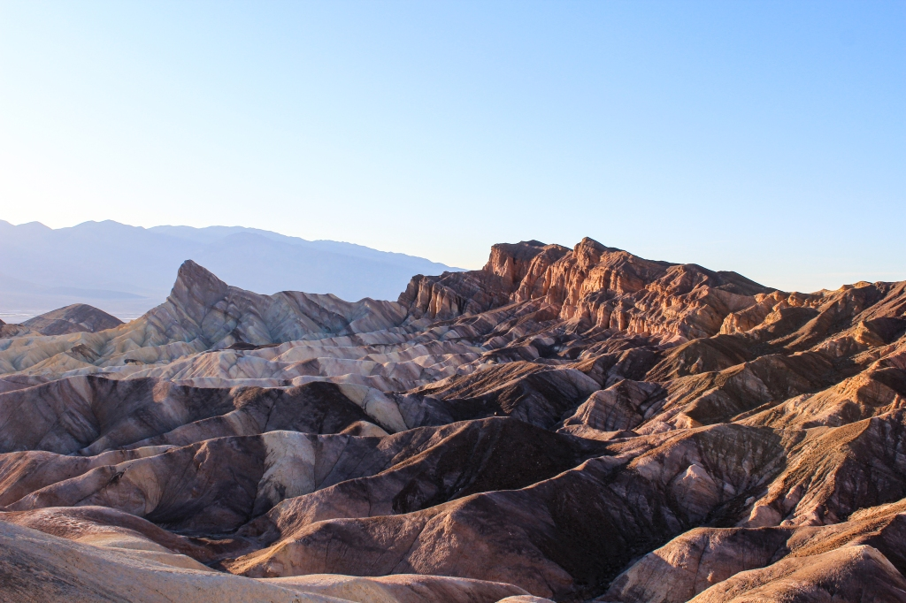 sunset at Zabriskie Point